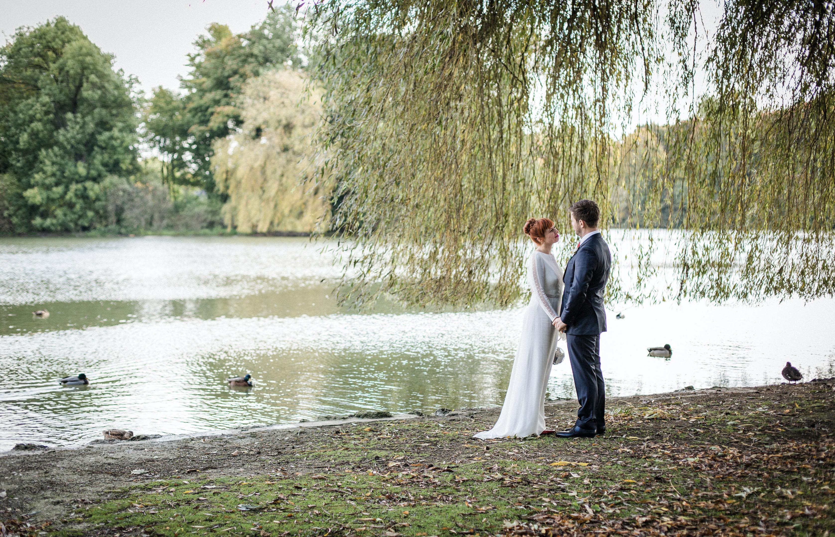 Hochzeit München Englischer Garten See
